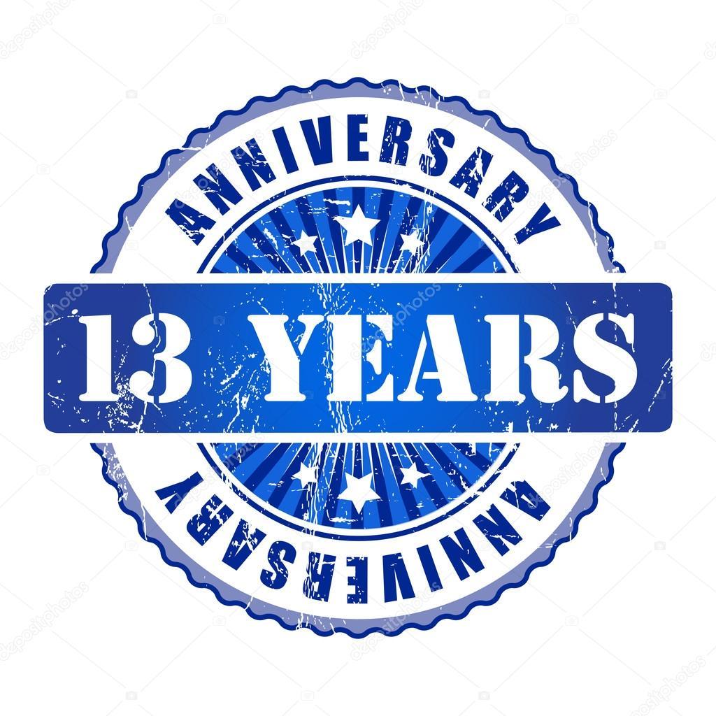 verjaardag 13 jaar 13 jaar verjaardag stempel — Stockvector © GalaStudio #63939305 verjaardag 13 jaar