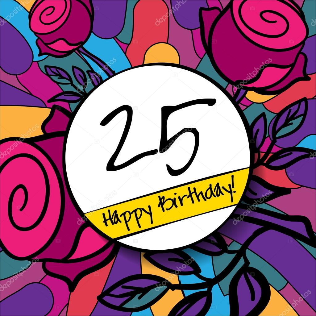 Image result for 25happy birthday