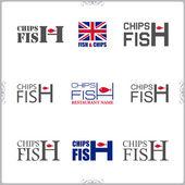 Fotografie Fish  Chips-Etiketten