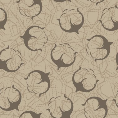 Cotton seamless pattern.