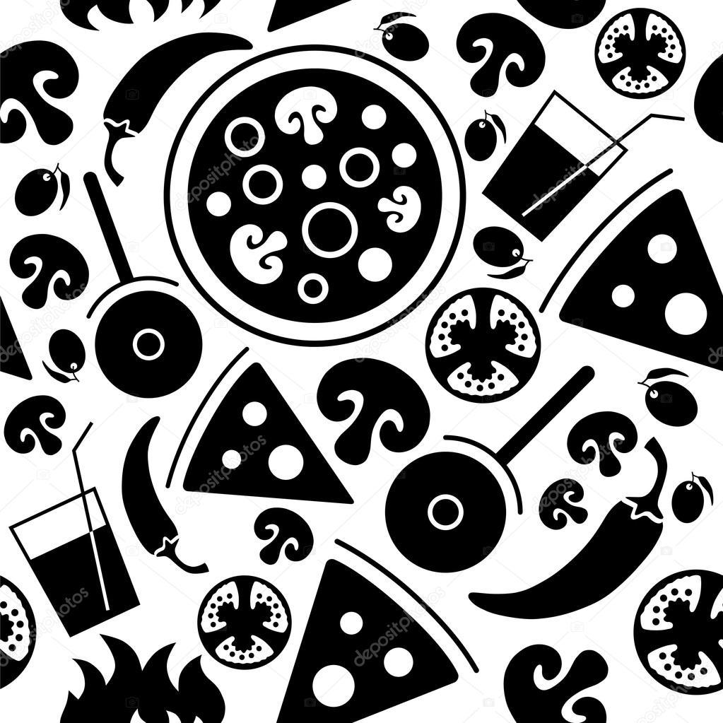 seamless pizza pattern   u2014 stock vector  u00a9 galastudio  66627879
