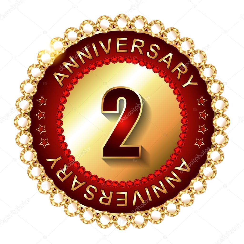 2 years anniversary stock vectors royalty free 2 years anniversary