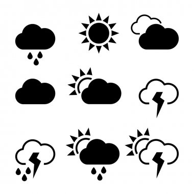 Weather widgets template icons