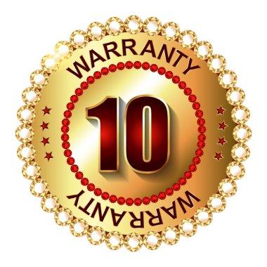 10 years warranty golden label