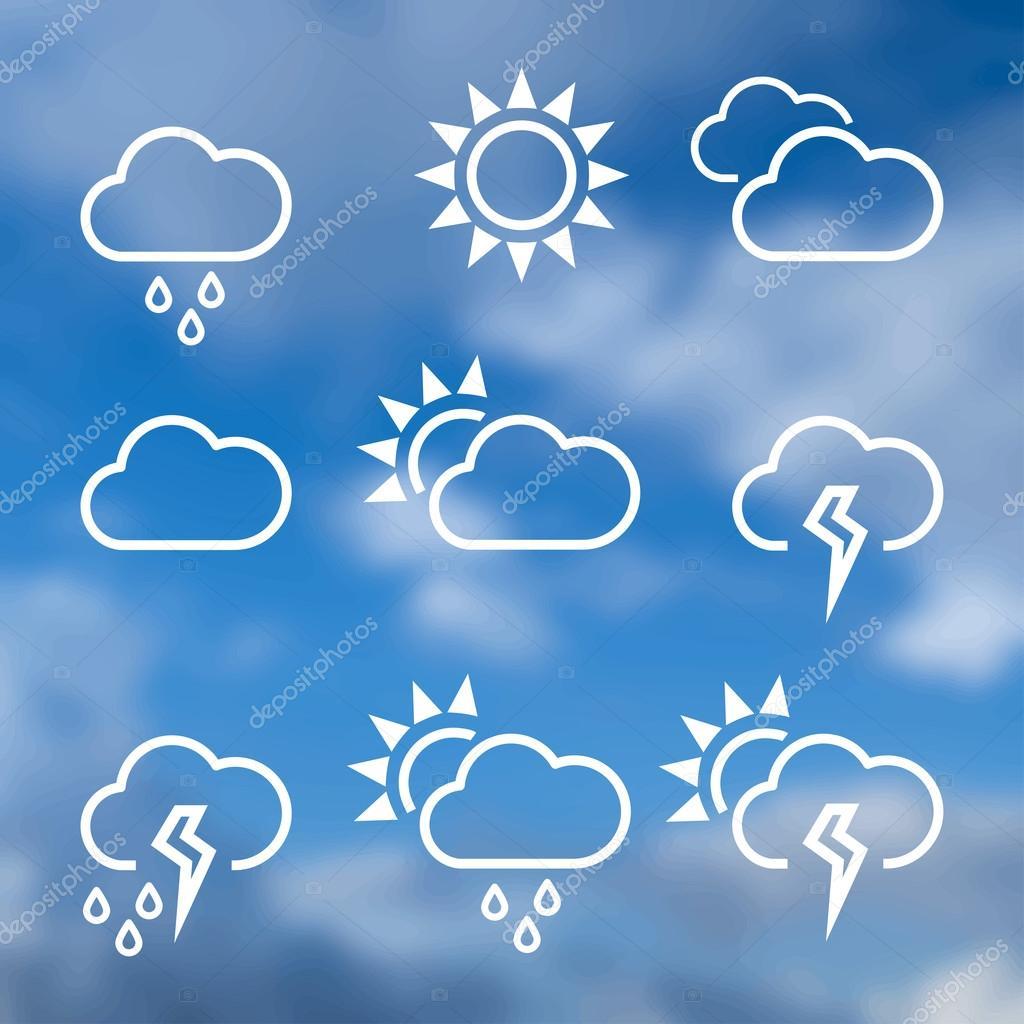 Weather widgets template icons — Stock Vector © GalaStudio