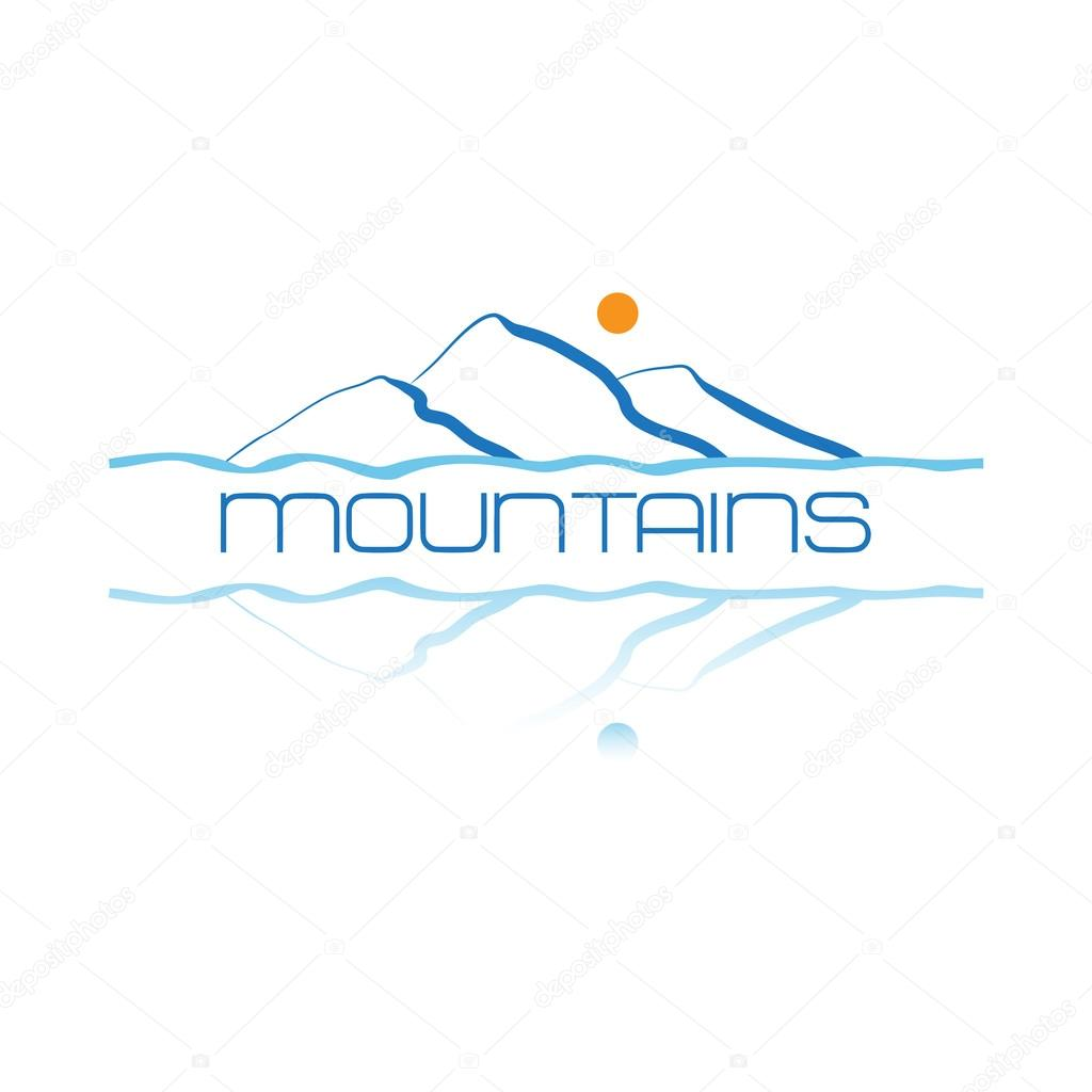 Mountains icon symbol or logo