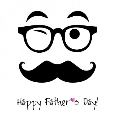 Happy Father's day background for card stock vector