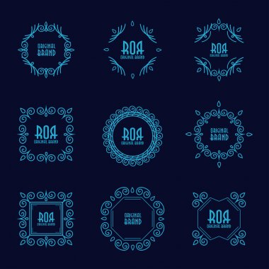 Abstract geometric frames set