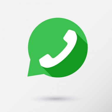 Phone icon in speech bubble