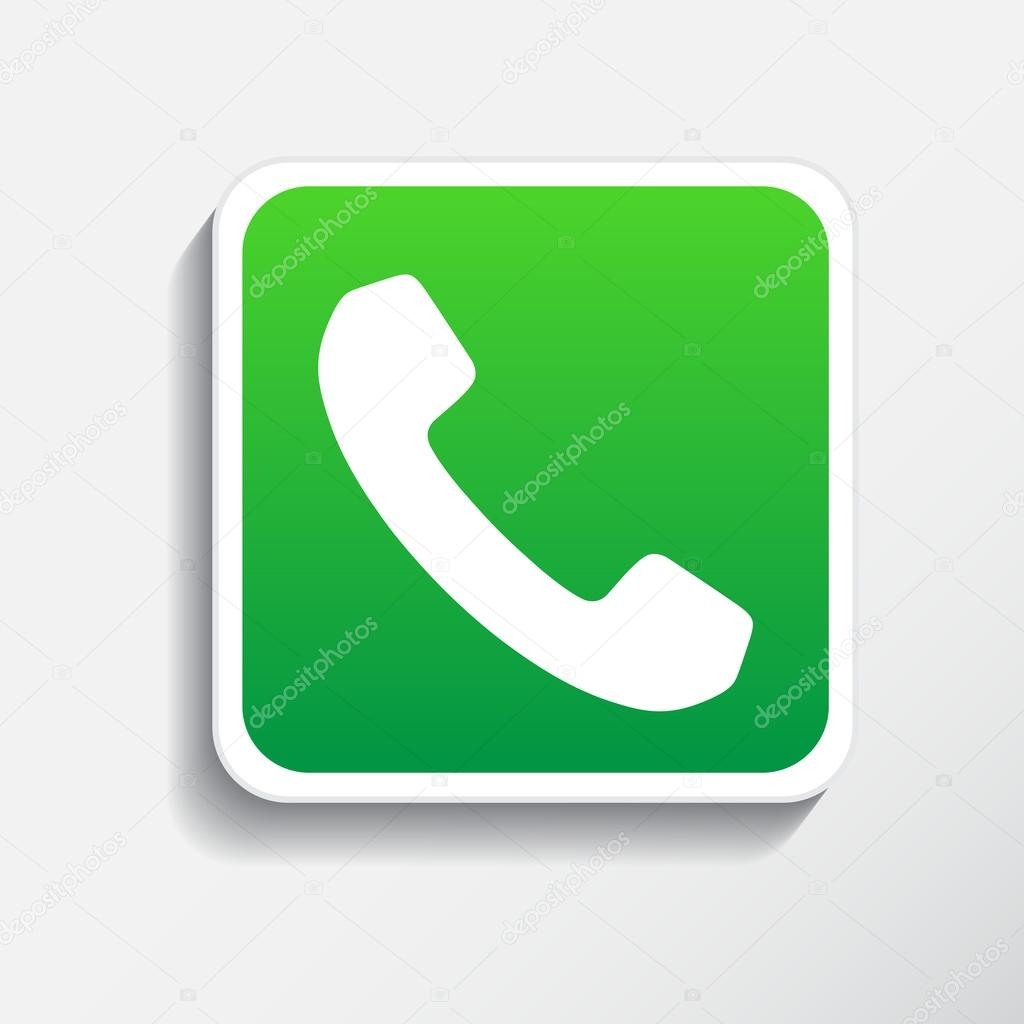 Phone icon button