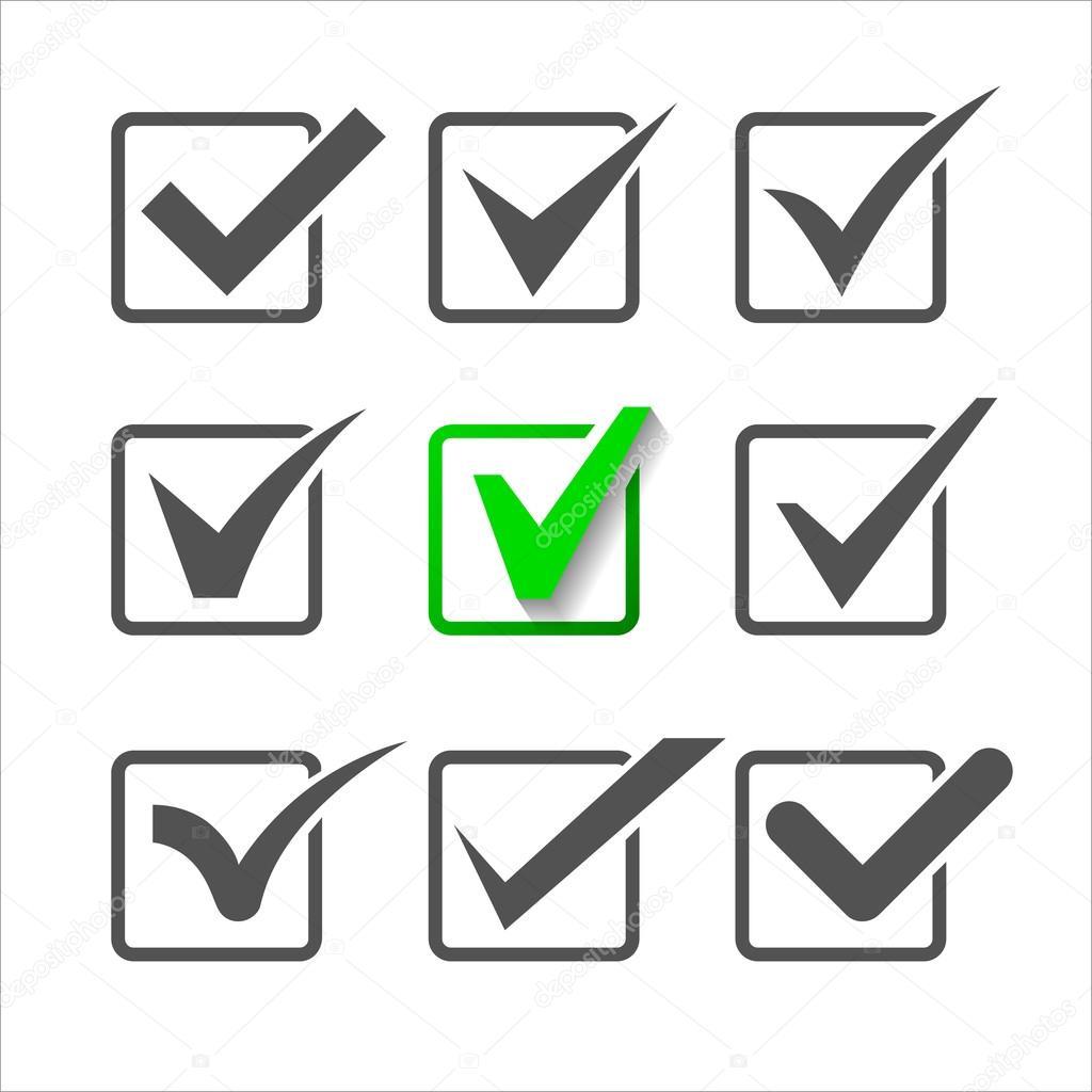 Validation icons set