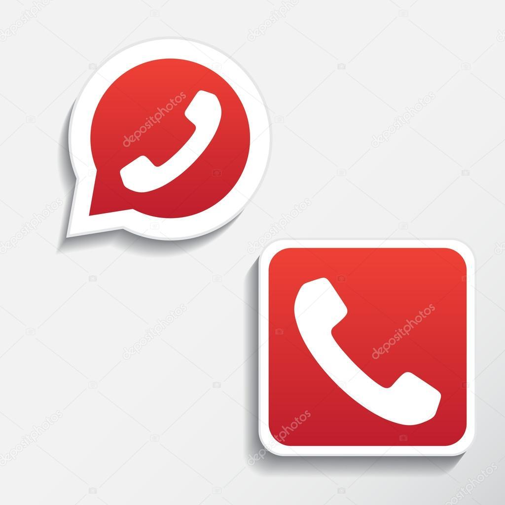 Phone icons set