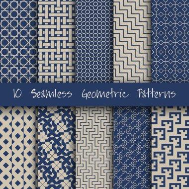 Grunge Seamless Geometric Patterns