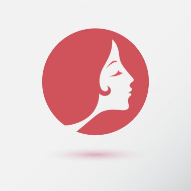 The woman fashion icon or logo. Flat design. Vector illustration clip art vector