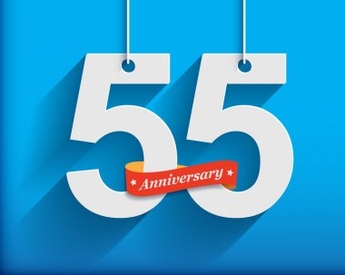 55 Anniversary numbers with ribbon