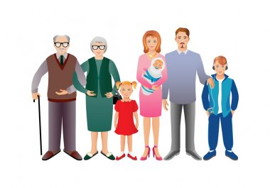 Big happy family concept