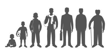 Generation of men from infants to seniors
