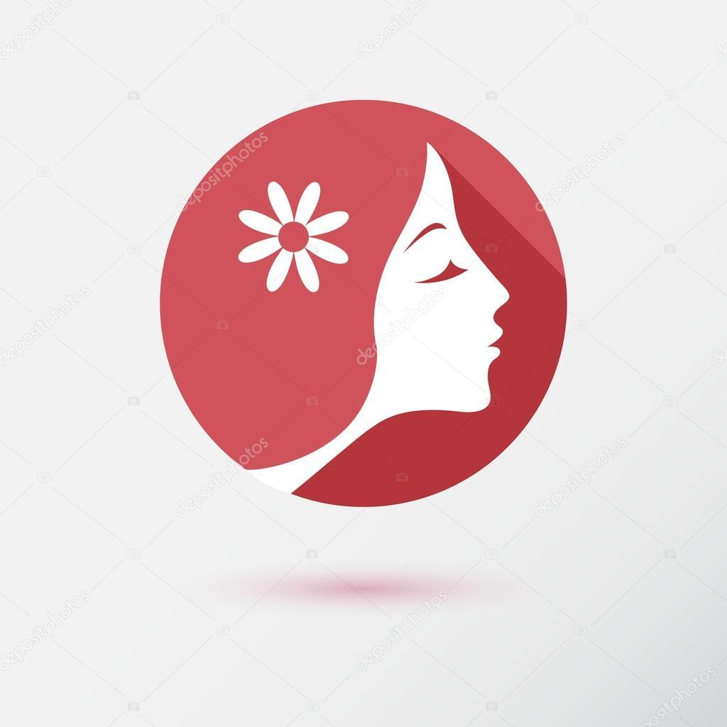 720da1514f1fc ícone de moda mulher — Vetor de Stock © GalaStudio  79733316