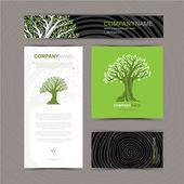 Visitenkarten-Vorlage mit stilisiertem Baum