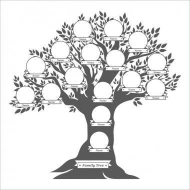 Hand drawn oak family tree