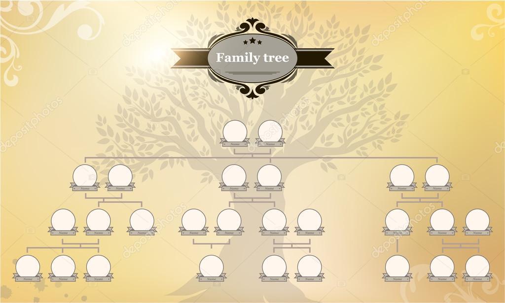 Aile Soy Ağacı Stok Vektör Galastudio 82678744
