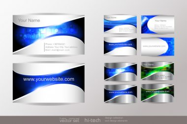 Set of business cards template