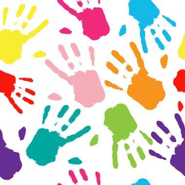 Hand Colorful Prints.