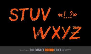 Panda Oil Pastel color Font.