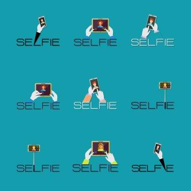 Taking Selfie Photo set