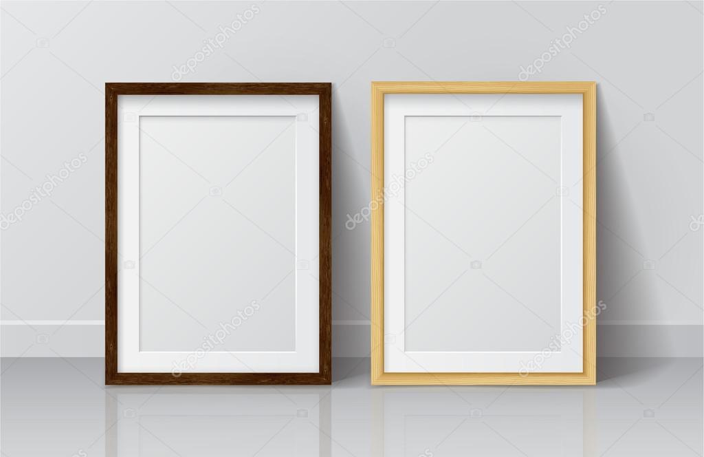 Light Wood and Dark Wood frames — Vector de stock © GalaStudio #91742010