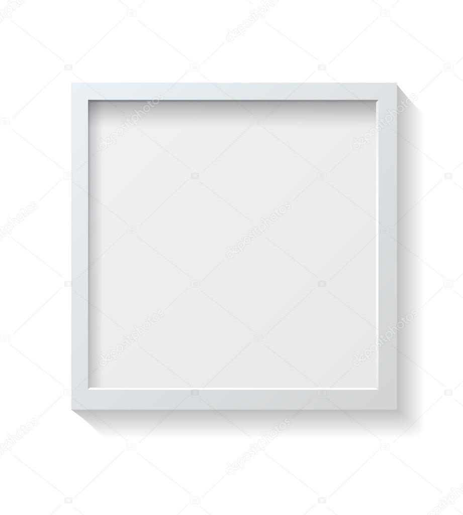Square White Blank Picture frame — Stock Vector © GalaStudio #94645964