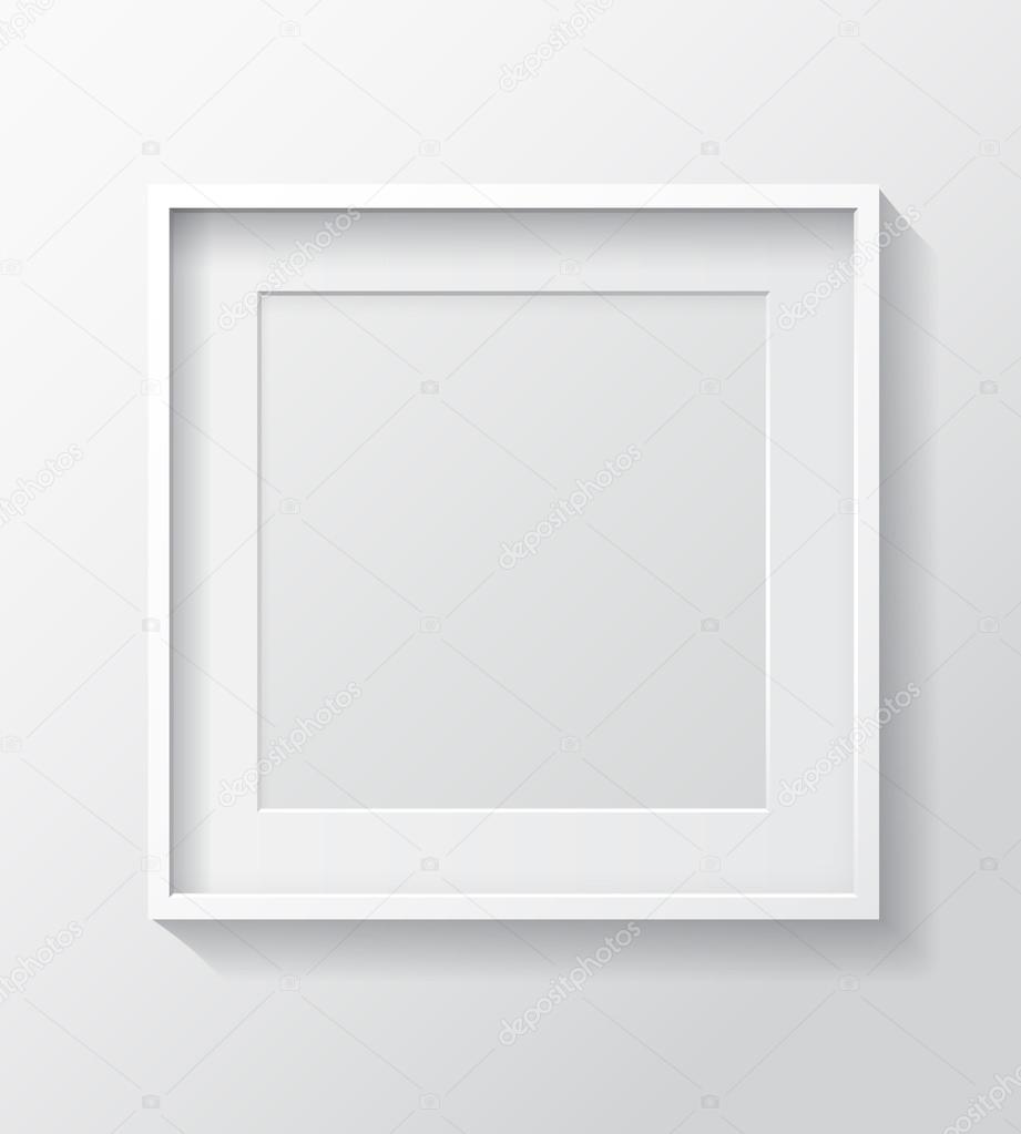 Square White Blank Picture frame — Stock Vector © GalaStudio #94645970