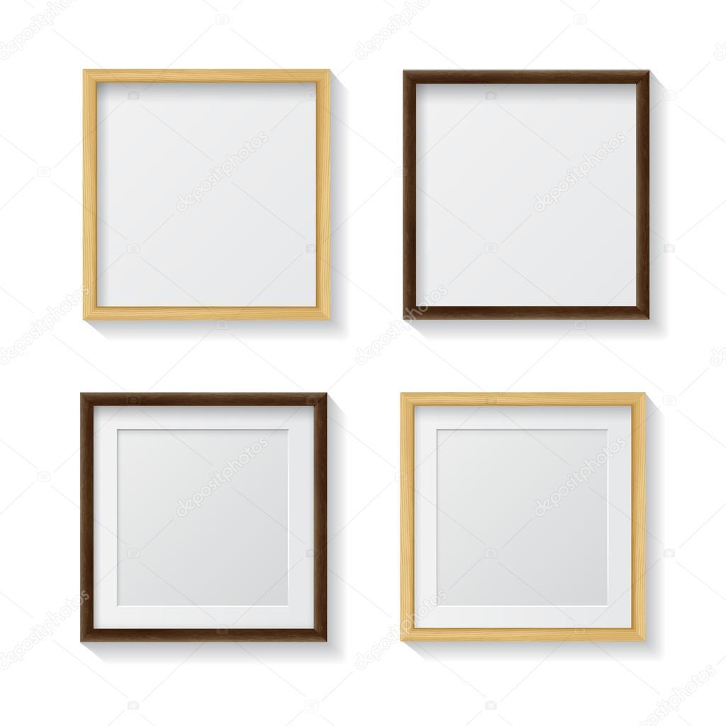 Reihe von leeren Rahmen Bild-Quadrat — Stockvektor © GalaStudio ...