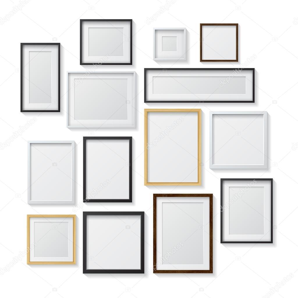 Conjunto de marcos en blanco — Vector de stock © GalaStudio #94647304