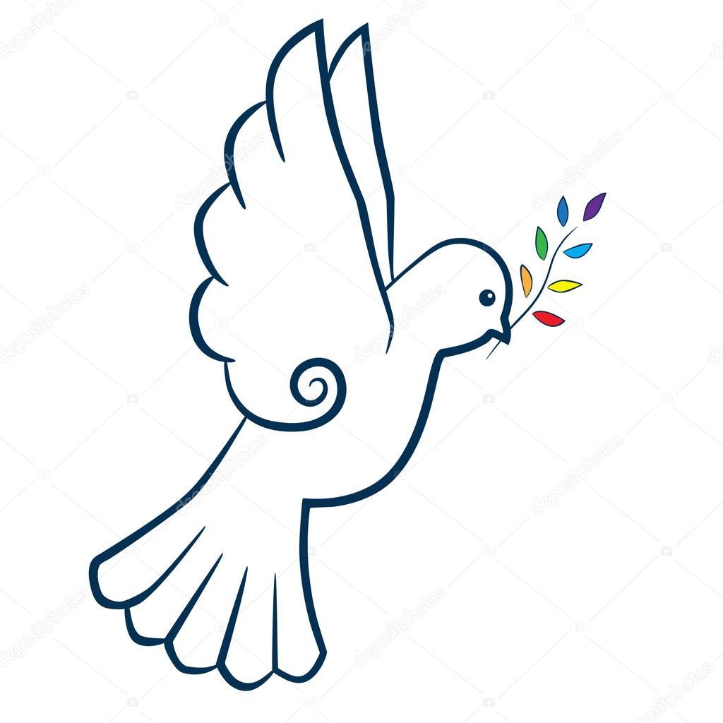 Dove bird peace sign - photo#35