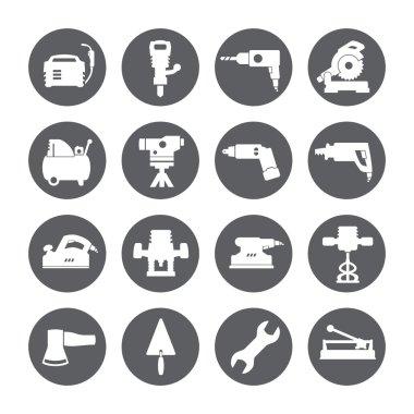 Construction tools. Repair icons. Vector set.