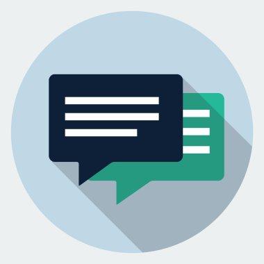 Vector bubble speech icon