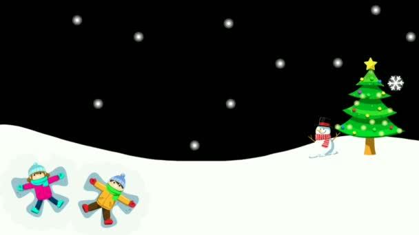 Sníh na zimní animace scenérie může použít Nový rok a veselé vánoční pozadí nebo přání