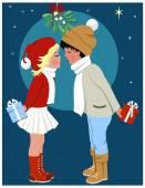 Photo Kissing Under the Mistletoe