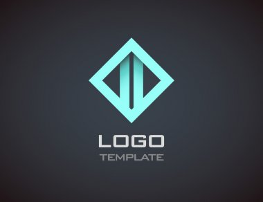 Fashion Jewelry luxury concept abstract logo template. Business