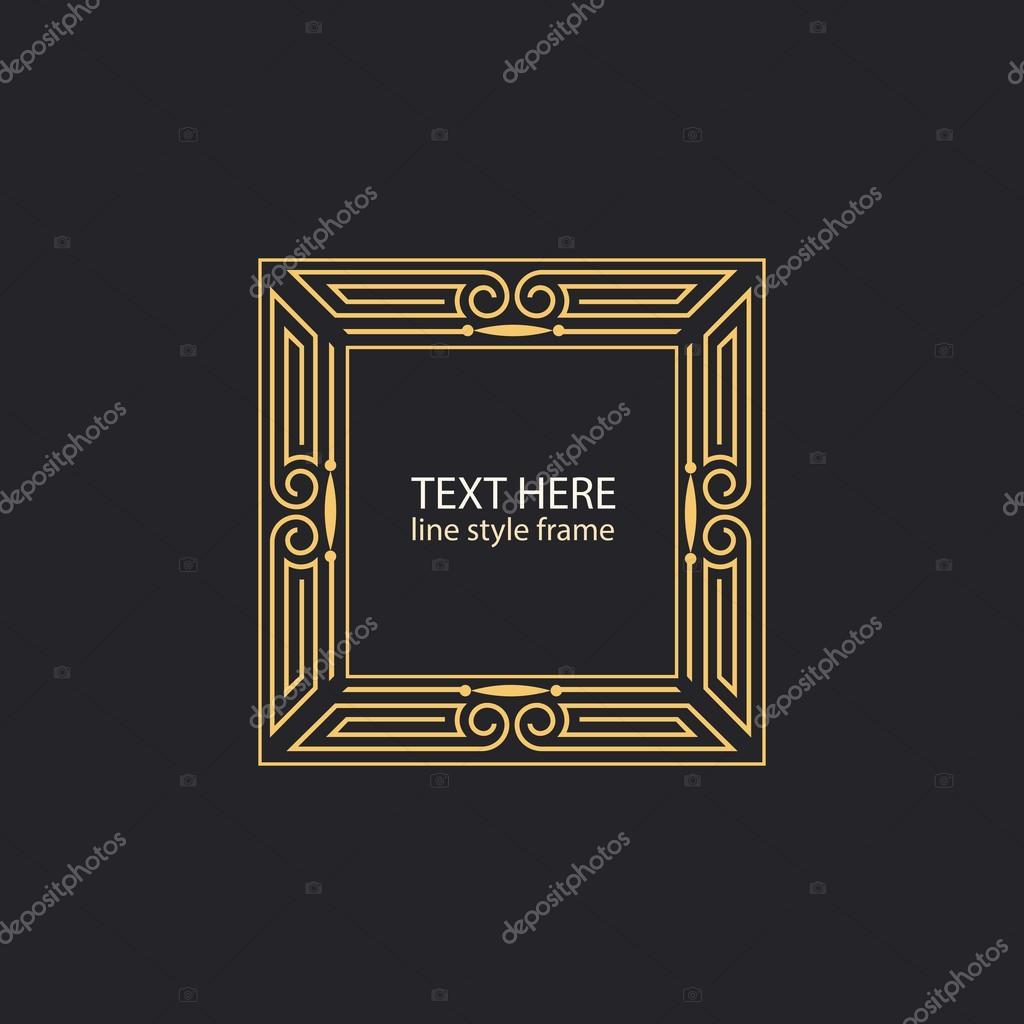 Cadre De Style Linéaire Géométrique De Vecteur Art Déco Décoration