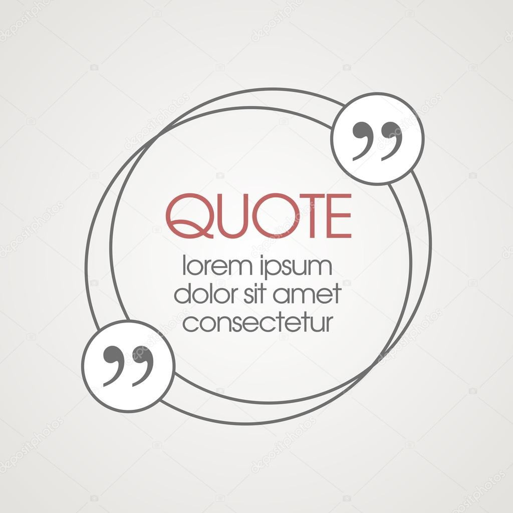 Citation text box. Frame for decoration quote and other ...