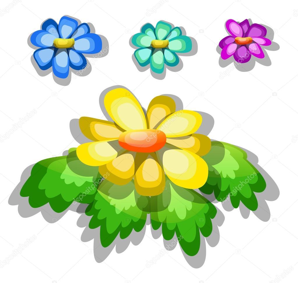 Dibujos Animados De Flores A Color Dibujos Animados De Flores De