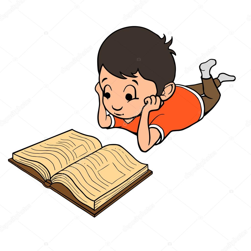 ni u00f1o leyendo un libro ilustraci u00f3n vectorial vector de boy reading clipart images boy reading book clipart