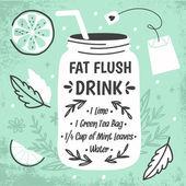 Ricetta di acqua di scarico grasso Detox