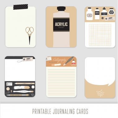 Journaling cards, notes, stickers, labels