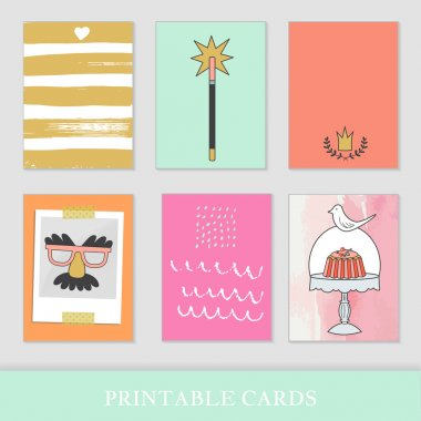 Sweets and children's party  cards.