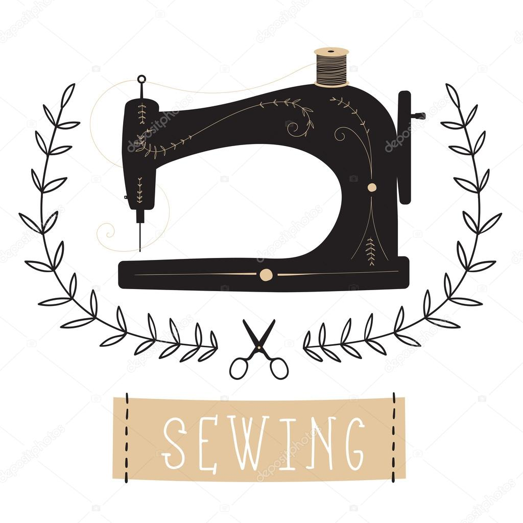 m u00e1quina de costura vintage vetor de stock  u00a9 lechernina sewing machine clip art 2018 sewing machine clip art rent