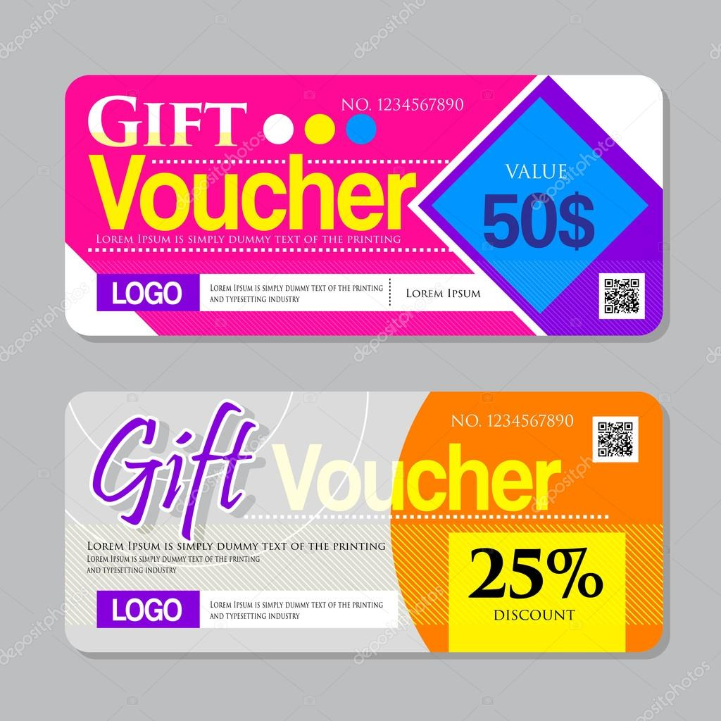 gift voucher certificate coupon design template gift certificate