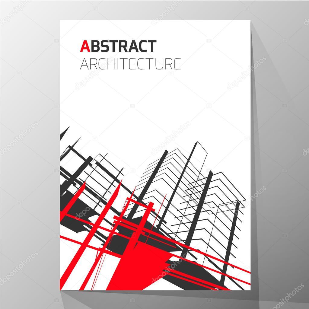 Abstrakt Architektur Hintergrund Broschüre Layoutvorlage Abstrakt